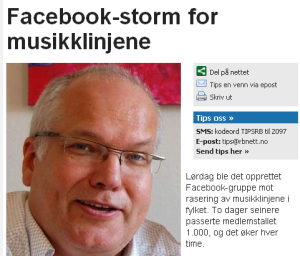 Facebook-storm for musikklinjene