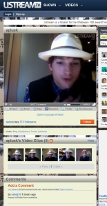 Ashton Kutcher direkte på ustream.tv